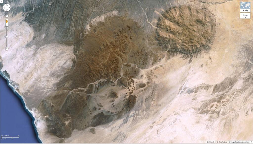 Brandberg Massif, Namibia [Google-Maps]