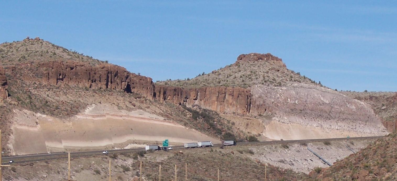 Basalt without volcano, Kingman, Arizona