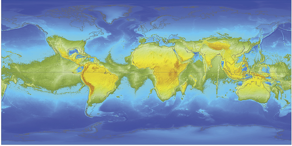 Simulation of global water levels without Earth's rotation [Fracek]